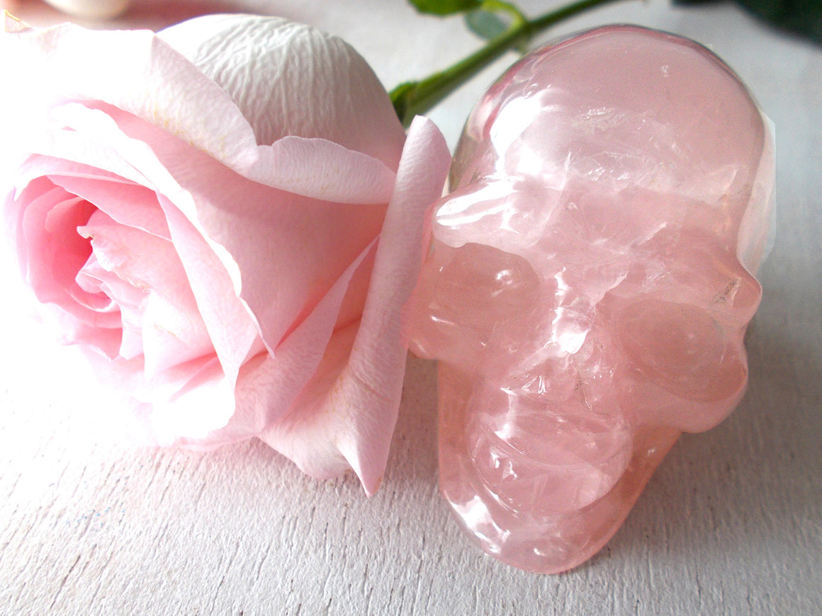 Rose Quartz Crystal Skulls for Sale
