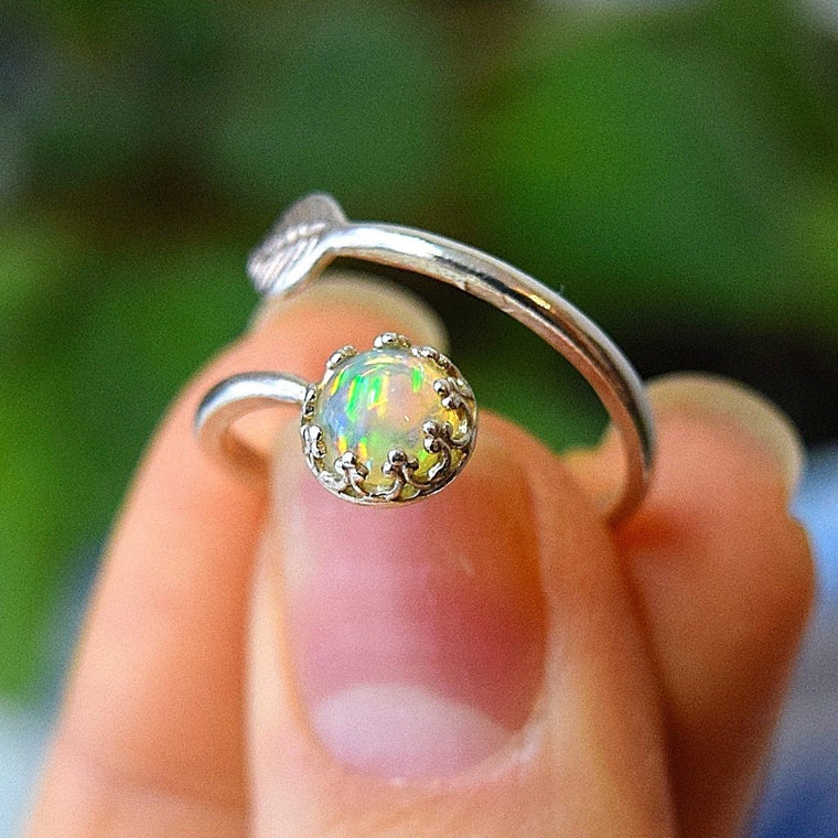 Natural Opal Rings Opal Engagement Ring Boho Rings Women Rings