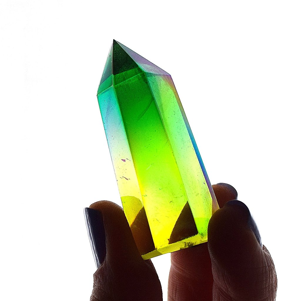 APPLE Aura Quartz Point, Hybrid Aura Quartz ( Green + Sunshine )