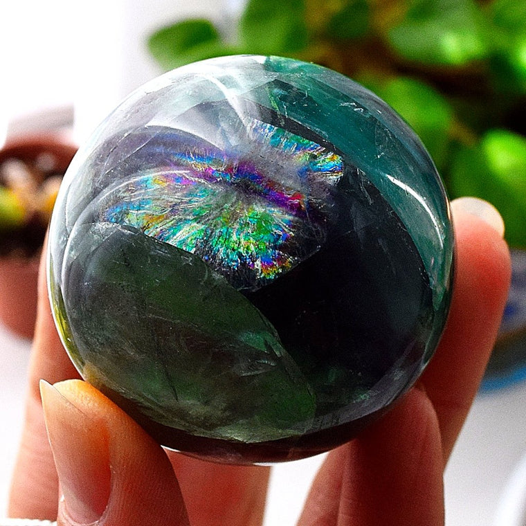 Fluorite Crystal Sphere for Sale