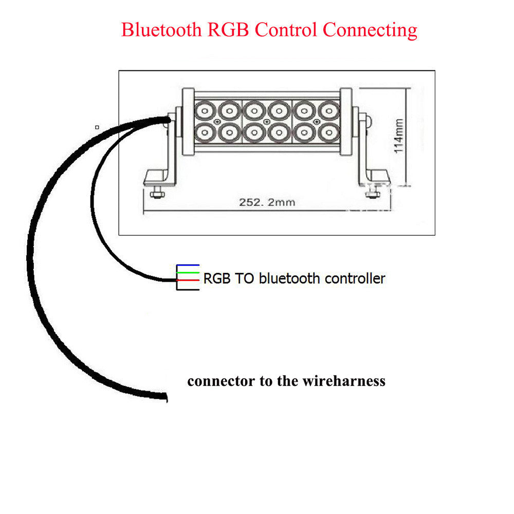 light bar bluetooth connector