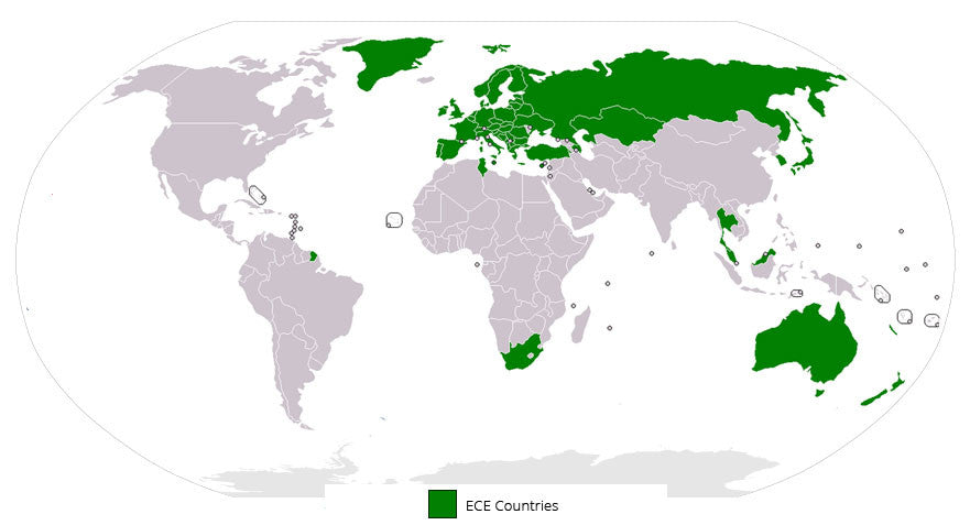map ece countries