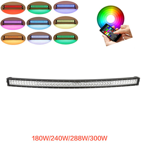 "Curved 32""/42""/50""/52"" Bluetooth Control RGB Halo LED Light Bar"
