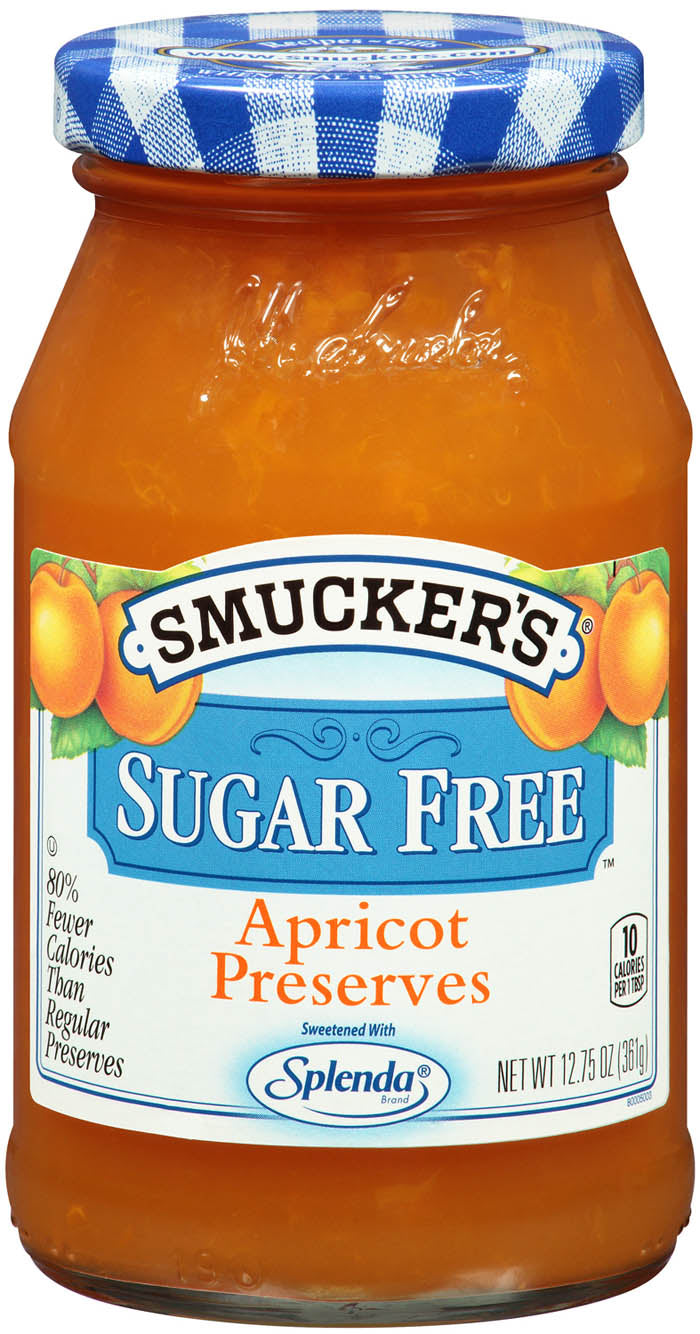 New! Smucker's Sugar Free Apricot Preserves  12.8oz