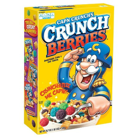 Cap'N Crunch Crunch Berries 18.7oz American Cereal available in Canada