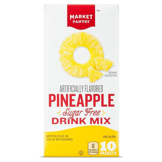 Market Pantry Pineapple Sugar Free - 10 pack