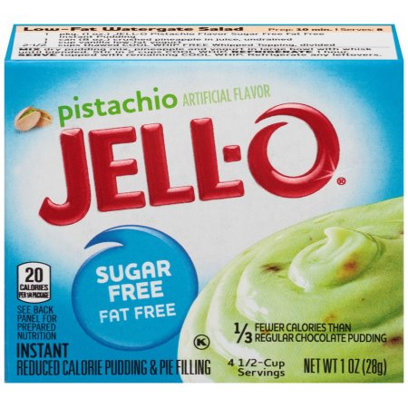 Jello Sugar Free Fat Free Pistachio Pudding Mix