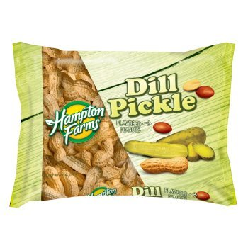 New ! Hampton Farms Dill Pickle Peanuts- 20 oz