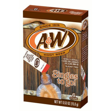 A&W Sugar Free Singles To Go! Rootbeer