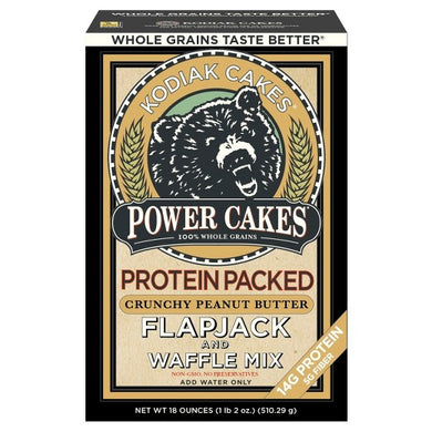 Kodiak Cakes Protein Packed Flapjack & Waffle Mix Crunchy Peanut Butter - 18oz