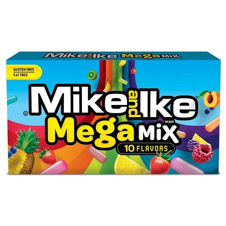 Mike & Ike Mega Mix 10 Flavours 3.6oz Available in Canada