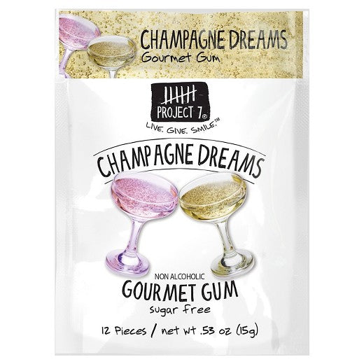 Project 7 Champagne Dreams Gourmet Sugar Free Gum