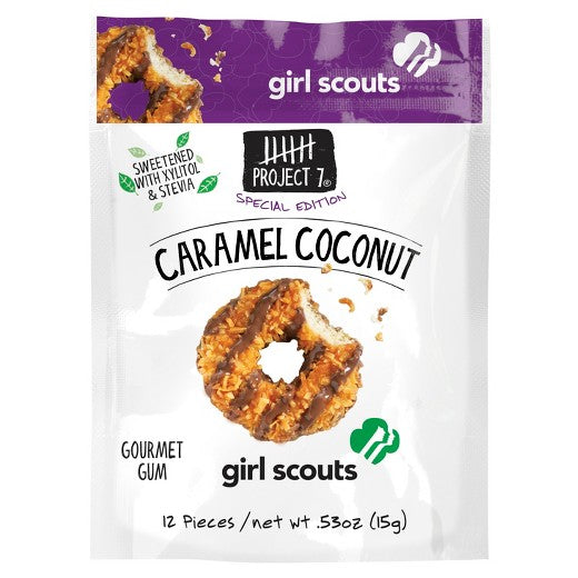 Project 7 Caramel Coconut Girl Scout Gourmet Gum - 0.53oz