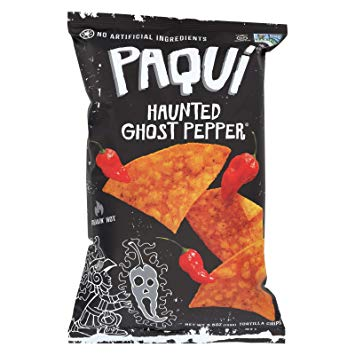 New !  Paqui Haunted Ghost Pepper Chips 2oz