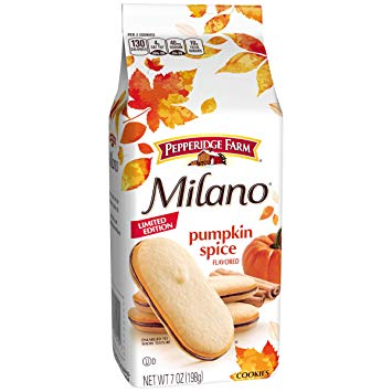 New!  Pepperidge Farm Pumpkin Spice Milanos