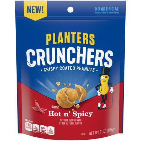 Planters Crunchers Crispy Coated Peanuts Hot N' Spicy