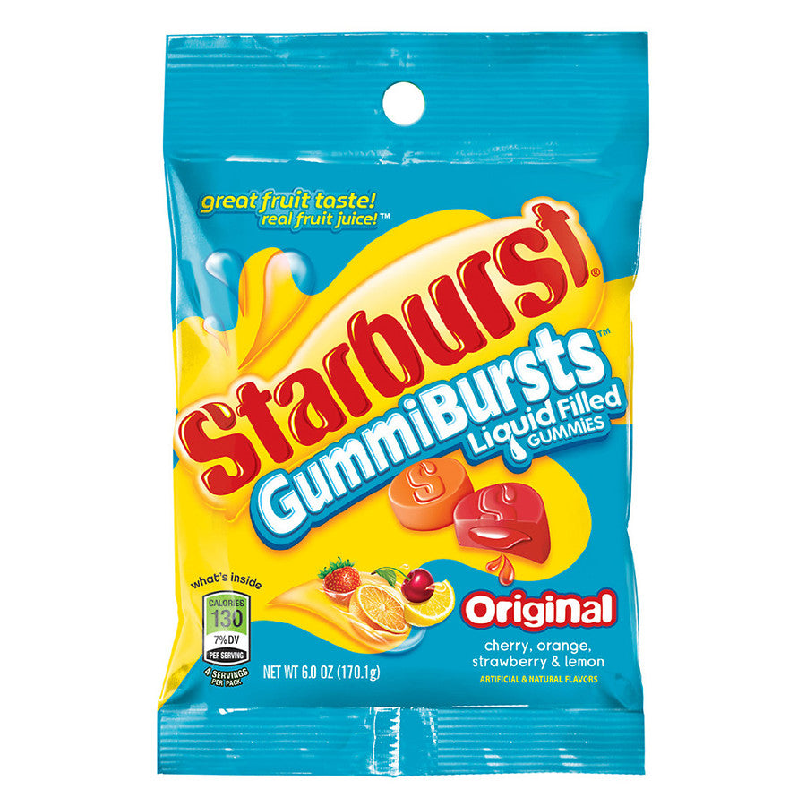 New ! Starburst Gummi Bursts Original Flavor- 6.0oz