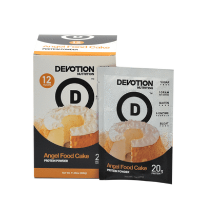 New! Devotion Nutrition Protein Angel Food Cake Original - Singles