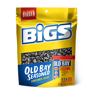 New !! Bigs Old Bay Seasoned Sunflower Seeds 5.35 oz