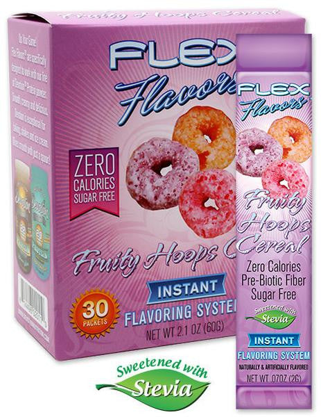 Flex Flavors Fruity Hoops Cereal 30 Count Stick Pack