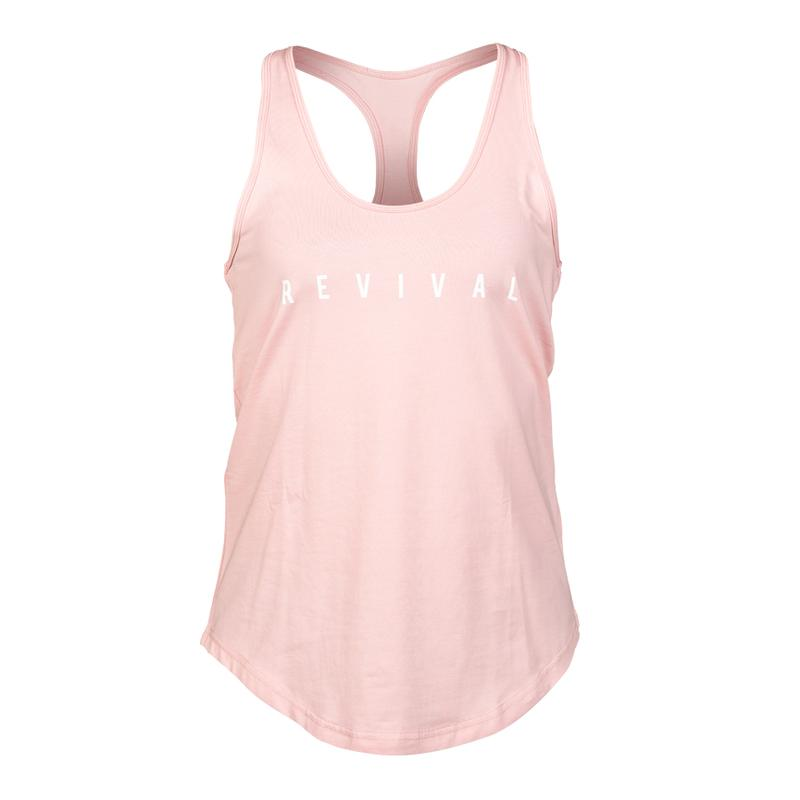 New! Revival Definition Tank Top - Blush/White