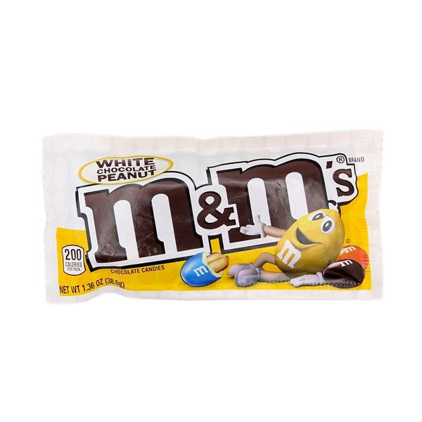 M&M's White Chocolate Peanut Candies - Share Size 2.80oz