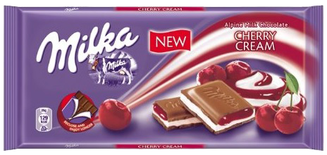 Milka Cherry Cream - UK 3.5oz
