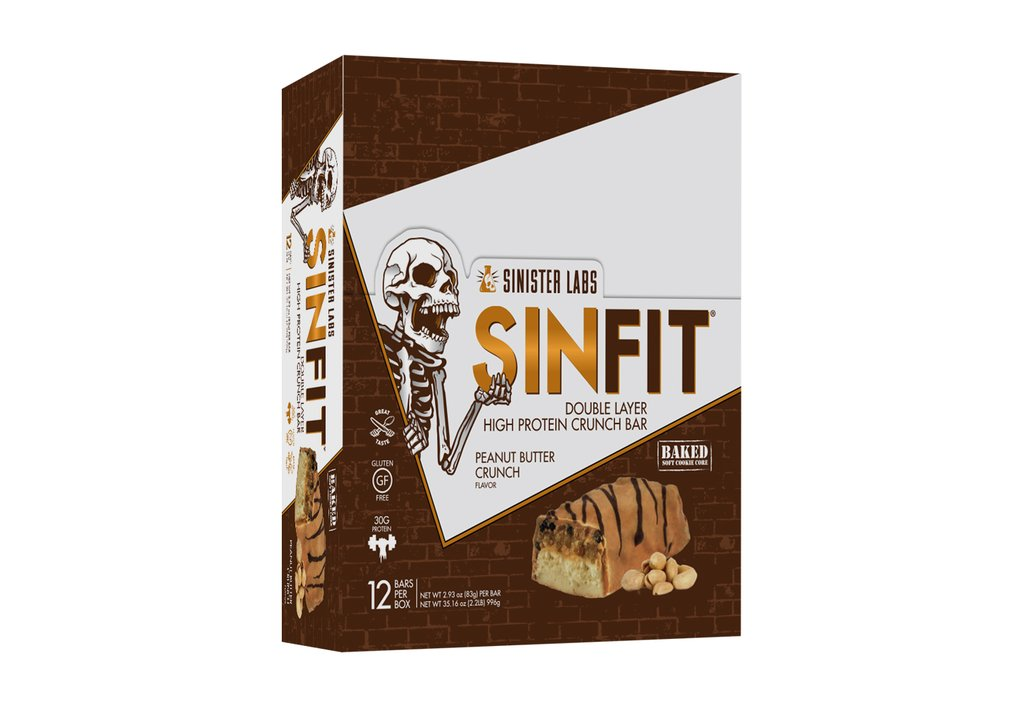 Sinister Labs SINFIT High Protein Crunch Bars - Buy 5 Get 1 Free (use code BUY5GET1FREESINFIT at checkout)