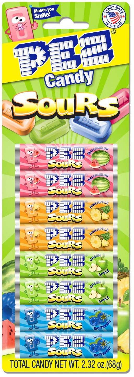 New! PEZ Candy Refills Sours Assorted Sour Candy