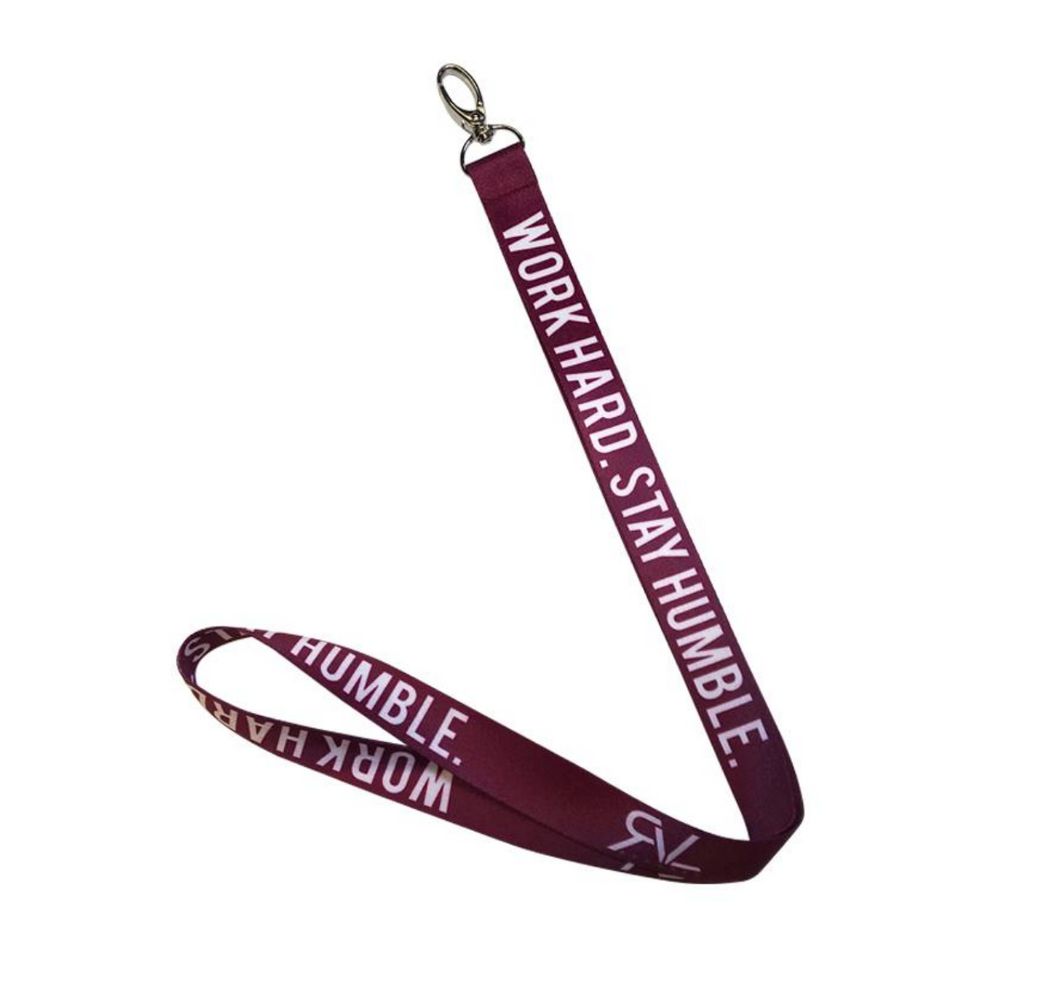 Revival Apparel RVL Lanyard Maroon/White