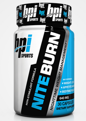 New! BPI Nite Burn- 30ct WEIGHT LOSS.APPETITE MANAGEMENT