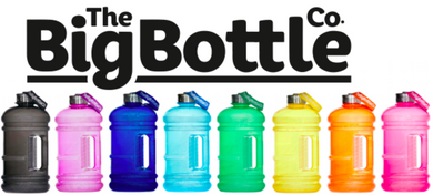 New! The Big Bottle Co 2.2L Bottles - Various Colours
