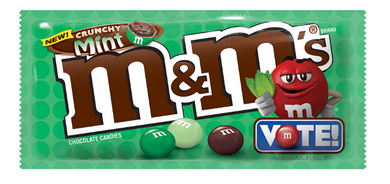 New !! M&M's Crunchy Mint - 2.83 oz