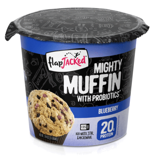 New! FlapJacked Mighty Muffins Blueberry Muffin 1.95oz