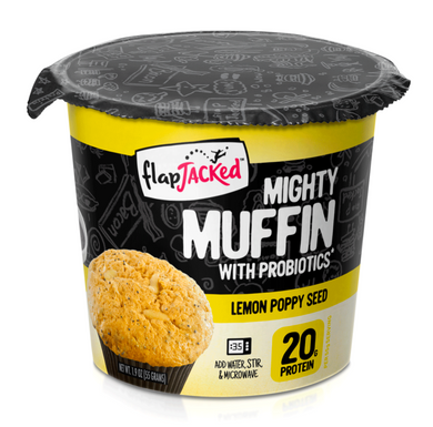 FlapJacked Mighty Muffin Lemon Poppy Seed 1.95oz SALE!