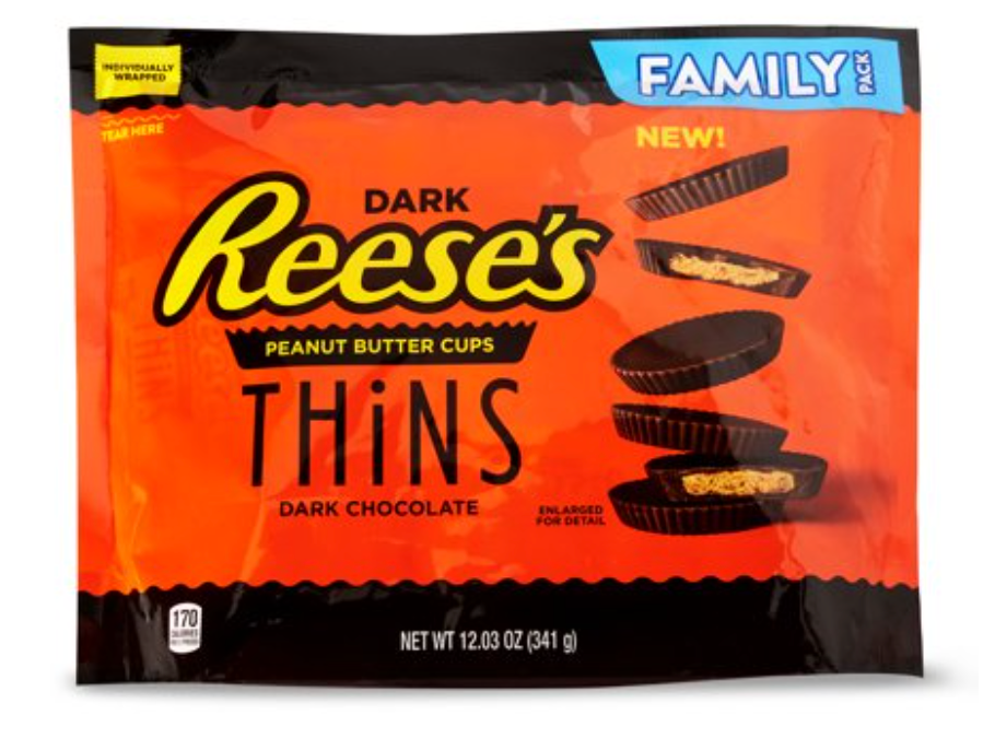 New! Reese's Peanut Butter Cups Thins Dark Chocolate - 12.03oz