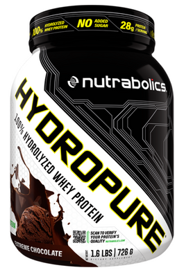 New! Nutrabolics Hydropure 100% Hydrolyzed Whey Protein- 1.6lb - Various Flavours