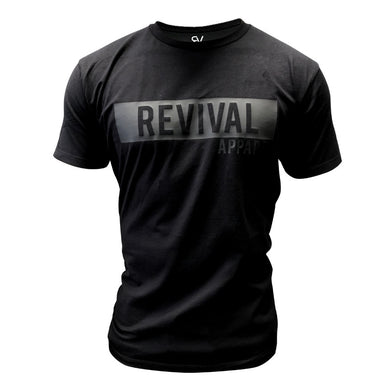 Revival Apparel Statement Tee - Black/Black