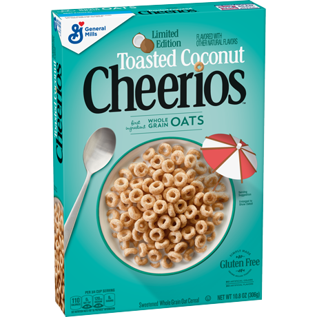 New! Limited Edition Coconut Cheerios Cereal - 19.5oz