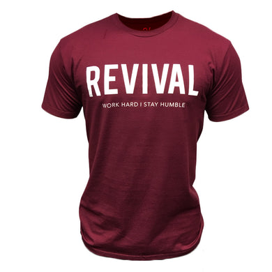 Revival Apparel Training Tee - Maroon/White