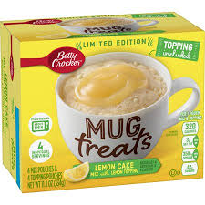 New! Betty Crocker Limited Edition Mug Treats Lemon Cake with Lemon Topping - 4pk