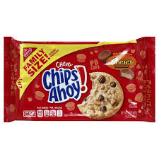 New! Chips Ahoy Chewy Reese's Peanut Butter Cup - Family Size