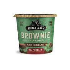 New! Kodiak Cakes Unleashed Protein Brownie Mint Chocolate - Single Cup