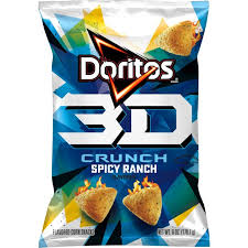 New! 3D Crunch Doritos Spicy Ranch - 6oz