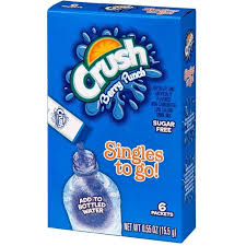 Crush Sugar Free Singles To Go! Berry Punch