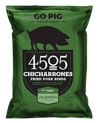 New! 4505 Chicharrones Pork Rinds - Jalapeño Cheddar