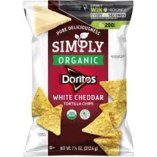 New! Simply Organic  Doritos Spicy White Cheddar Tortilla Chips - 7.5oz