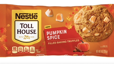 New! Nestle Toll House Pumpkin Spice Filled Baking Truffles - 9oz ***One Per Customer***