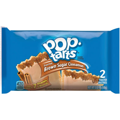 New! Pop Tarts Frosted Brown Sugar Cinnamon 2 ct