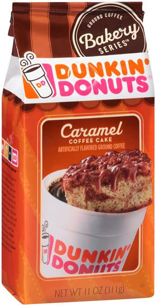 Dunkin Donuts Caramel Coffee Cake Ground Coffee 11oz Bakery